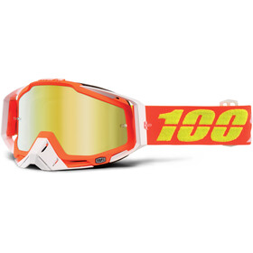 100% Racecraft Anti Fog Mirror Goggles orange